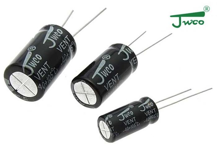 Электролитические конденсаторы торговой марки JWCO.