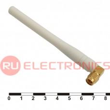 Антенна GSM RUICHI 3 дБ, 900 МГц, разъём SMA-P угловой, белая
