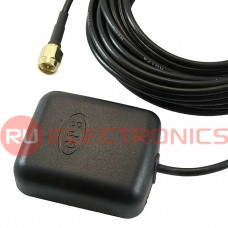 Антенна GPS RUICHI JCGPSF1, 3 м, кабель RG 174, разъём SMA