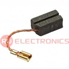 Графитовая щетка для электродвигателя RUICHI 6.3x8x13 мм, с проводом