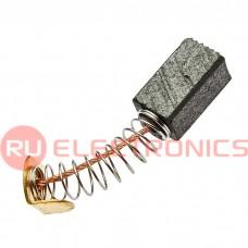 Щетка для электродвигателя RUICHI brush 6.5x7.5x14 spring, графитовая с пружиной
