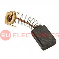 Графитовая щетка для электродвигателя RUICHI 6x11x17 мм, с пружиной
