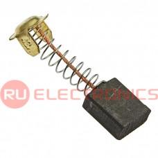 Щетка для электродвигателя RUICHI brush 7x13x16 spring, графитовая с пружиной