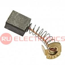Щетка для электродвигателя RUICHI brush 7x14x16 spring, графитовая с пружиной