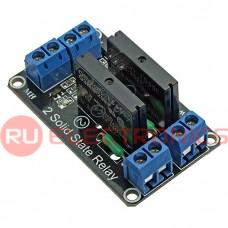 Электронный модуль RUICHI 2-CH 5V Solid-state Relay