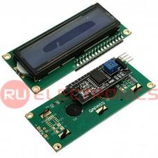 Дисплей символьный с конвертером RUICHI 1602 I2C, 5 В