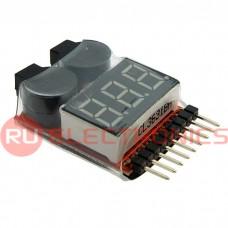 Аккумуляторный пробник RUICHI 1-8S с красным индикатором