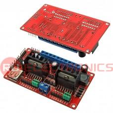 Электронный модуль L298N V3 / 4-DC motor driver, 2А