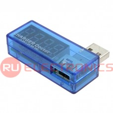 USB зарядное устройство с индикацией напряжения и тока зарядки RUICHI, 4-разрядный, LED-индикатор
