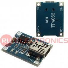 Mini USB-модуль (зарядное устройство для Li-ion аккумуляторов) RUICHI, 5 В, 1 A, двухцветный индикатор