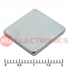 Магнит RUICHI B 15x15x2 мм, класс N35, квадратный