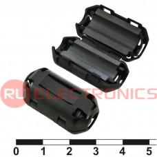 Фильтр ферритовый на провод RUICHI ZCAT1730-0730A-BK (черный), в корпусе