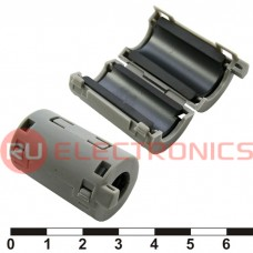 Фильтр ферритовый на провод RUICHI ZCAT2132-1130 (серый), в корпусе