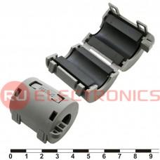 Фильтр ферритовый на провод RUICHI ZCAT3035-1330 (серый), в корпусе