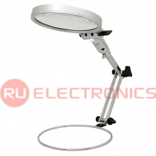 Лупа настольная с LED подсветкой RUICHI MG3B-1, 2.5X