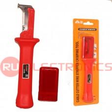 Нож кабельный плужковый для зачистки и обрезки кабеля FASEN 31HS