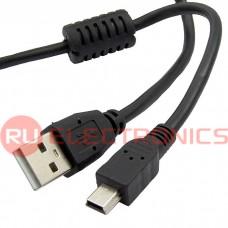 Компьютерный кабель USB переходный с фильтром SZC, Mini USB-B(m)-USB-A(m), 1.8 м