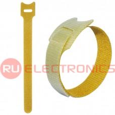 Хомут-липучка RUICHI 150х12 мм, желтый (100 шт.)