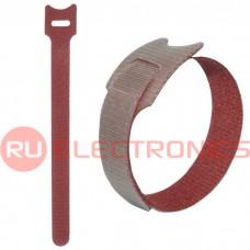 Хомут-липучка RUICHI 150х12 мм, красный (100 шт.)