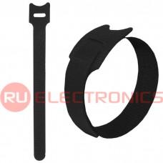 Хомут-липучка RUICHI 150х12 мм, чёрный (100 шт.)