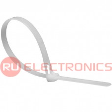Хомут многоразовый RUICHI СМР, нейлон, 500х7,4 мм, белый, упаковка 100 шт.