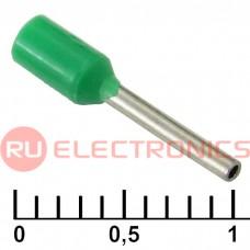 Наконечник на кабель RUICHI DN00308, зелёный, 0.8x8 мм, 0.34 мм2