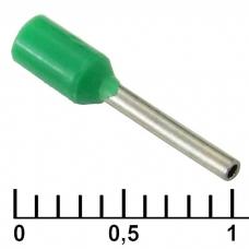 Наконечник на кабель RUICHI DN00308, зеленый, 0.8x8 мм