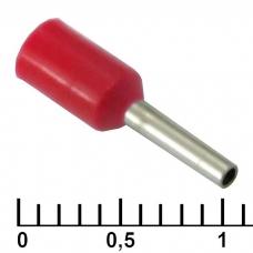 Наконечник на кабель RUICHI DN00506, красный, 1x6 мм