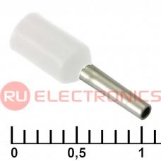 Наконечник на кабель RUICHI DN00506, белый, 1x6 мм, 0.5 мм2