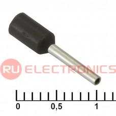 Наконечник на кабель RUICHI DN00508, чёрный, 1x8 мм, 0.5 мм2