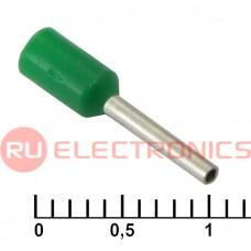 Наконечник на кабель RUICHI DN00508, зелёный, 1x8 мм, 0.5 мм2