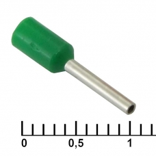 Наконечник на кабель RUICHI DN00508, зеленый, 1x8 мм