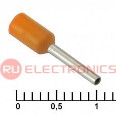 Наконечник на кабель RUICHI DN00508, оранжевый, 1x8 мм, 0.5 мм2