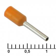 Наконечник на кабель RUICHI DN00508, оранжевый, 1x8 мм