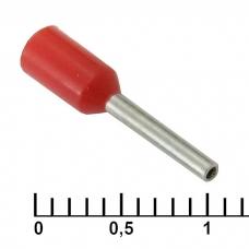 Наконечник на кабель RUICHI DN00508, красный, 1x8 мм
