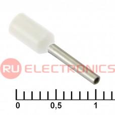 Наконечник на кабель RUICHI DN00508, белый, 1x8 мм, 0.5 мм2
