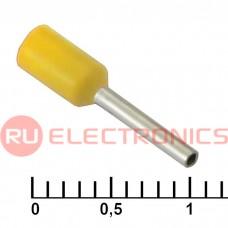 Наконечник на кабель RUICHI DN00508, жёлтая, 1x8 мм, 0.5 мм2