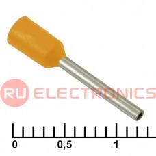 Наконечник на кабель RUICHI DN00510, оранжевый, 1x10 мм, 0.5 мм2