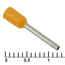 Наконечник на кабель RUICHI DN00510, оранжевый, 1x10 мм