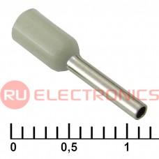Наконечник на кабель RUICHI DN00708, серый, 1.2x8 мм, 0.75 мм2