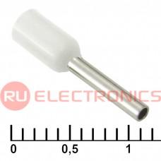Наконечник на кабель RUICHI DN00708, белый, 1.2x8 мм, 0.75 мм2
