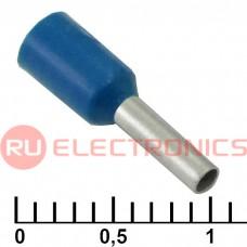 Наконечник на кабель RUICHI DN01006, синий, 1.4x6 мм, 1.0 мм2