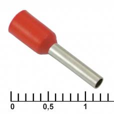 Наконечник на кабель RUICHI DN01008, красный, 1.4x8 мм