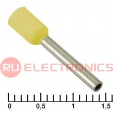Наконечник на кабель RUICHI DN01012, жёлтая, 1.4x12 мм, 1.0 мм2