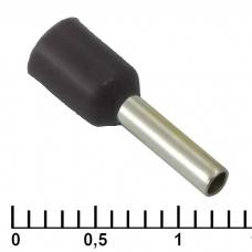 Наконечник на кабель RUICHI DN01508, черный, 1.7x8 мм