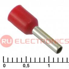 Наконечник на кабель RUICHI DN01508, красный, 1.7x8 мм, 1.5 мм2