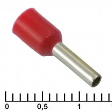 Наконечник на кабель RUICHI DN01508, красный, 1.7x8 мм