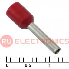 Наконечник на кабель RUICHI DN01510, красный, 1.7x10 мм, 1.5 мм2