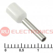 Наконечник на кабель RUICHI DN01510, белый, 1.7x10 мм, 1.5 мм2