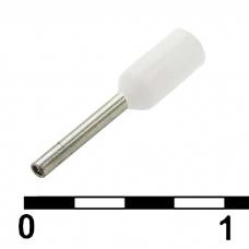 Наконечник на кабель RUICHI DN00206, белый, 0.75x6 мм